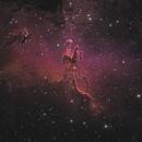 Pillars of Creation - Ha-SII-OIII-LRGB Backyard Version,                                KuriousGeorge