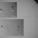 Sun Spots AR 2824 + 2826,                                astropical
