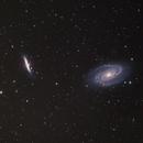 M81 et M82 - galaxie de bode et du cigare,                                astromat89
