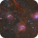 The Flaming star nebula(IC405),IC410 & M38,                                Yokoyama kasuak