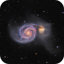 Whirlpool Galaxy M51 - in details,                                Arnaud Peel