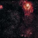 Trifid Nebula - M20, Lagoon Nebula - M8 Widefield,                                Kai Glasenapp