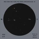 NGC 4284, NGC 4290, PGC 39934 and M40 (Winnecke 4),                                Steven Bellavia