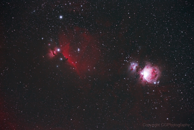 Orion, Running Man, Horsehead and Flame Nebula,                                CGPhotography