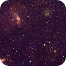 Bubble Nebula NGC7635 , Casseopia Star Cluster NGC7654 and NGC7538,                                Vikas Sahota