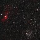 Bubble nebula & M52 cluster,                                VuurEnVlam