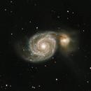 M51 Whirlpool Galaxy,                                WAskywatcher