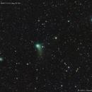 Title: Comet Catalina beside the Pinwheel Galaxy and the stars Mizar and Alcor,                                José J. Chambó