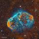 NGC 6888 - LA nébuleuse du croissant en SHO,                                Séb GOZE