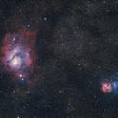 Nebulosa Laguna e Nebulosa Trifida,                                Alessandro Speranza