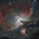 M43-M42 C11@1737 normandy backyard 10 sec - 120 sec - 300 sec subs,                                cv14