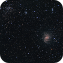 NGC6946 (Fireworks Galaxy) and NGC6939 (Star Cluster),                                CrestwoodSky