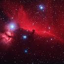 Horsehead and Flame Nebulae,                                bilgebay