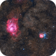 Lagoon and Trifid nebulas,                                Joe Beyer