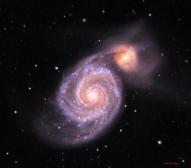 M51 Whirlpool galaxy,                                DustSpeakers