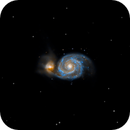 M51 - The Whirpool Galaxy in Canes Vanatici,                                Focus AG