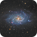 Messier 33 (galaxie du triangle) Version 2018 asi 1600 ha-lrvb,                                Camille COLOMB