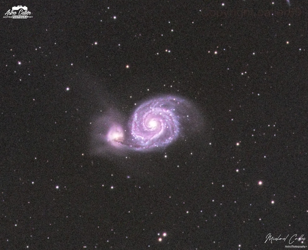 M51 Whirlpool Galaxy,                                Michael Caller