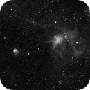 The Spider and the Fly nebulae (IC417 and NGC1931) in Ha,                                Luc Germain