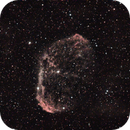 ngc6888 h-alpha image blended with DSLR image (see description),                                Stefano Ciapetti