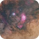 Milky Way Core 2021 featuring M8 and M21,                                Jeff Ball