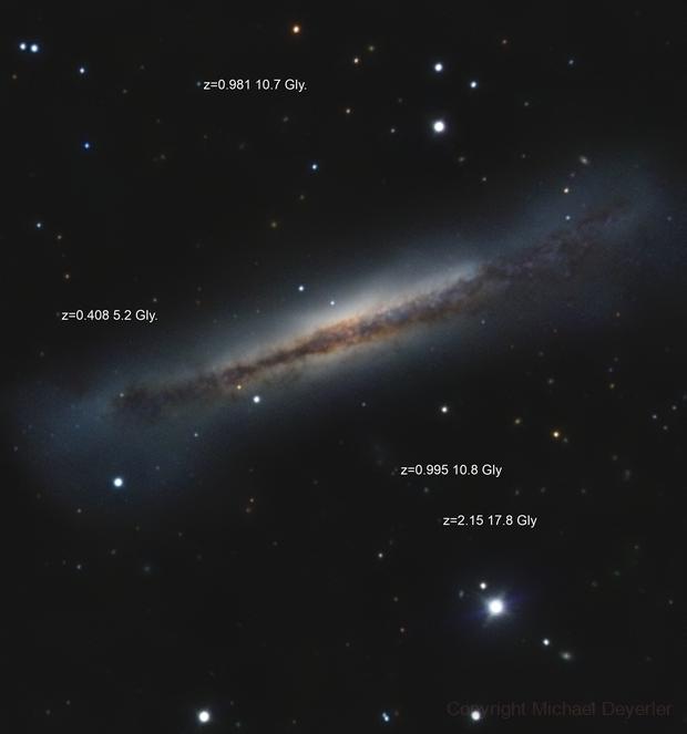 NGC 3628  The Hamburger Galaxy,                                Michael Deyerler