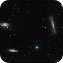 "M65, M66, NGC 3628: The ""Leo Trio"", LRGB, 14 Apr 2017,                                David Dearden"