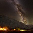 Milky Way and Bear Valley Camp,                                David J Roberts