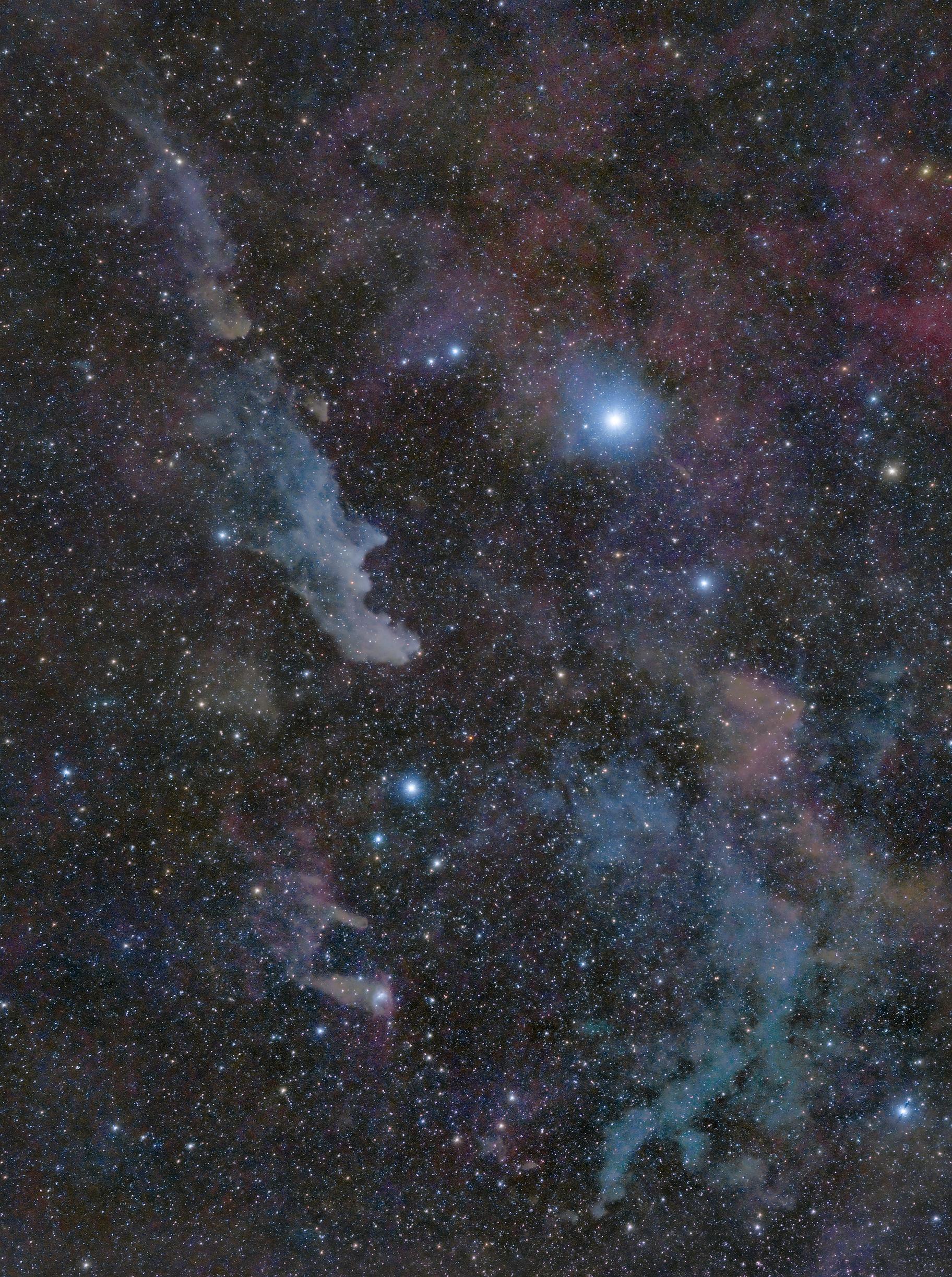 Witch Head Nebula widefield,                                bbright