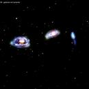 ngc3169 ---ngc3166---ngc3165  galassie nel sestante,                                Carlo Colombo