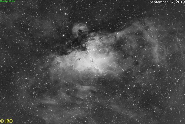Eagle nebula in Ha,                                Tom's Pics