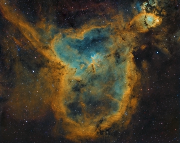 Heart Nebula in SHO,                                Bill Long