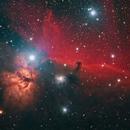 Horsehead and Flame Nebula - Deep Sky West Data,                                Michael Southam