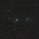 Persei Double cluster under full moon / Canon 600D + SW 80ED PRO / SW EQ-M35 / 400 iso,                                patrick cartou