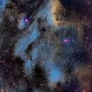 Nebulosa del Pelícano en banda estrecha (Pelican Nebula in Narrow Band - Hubble Pallette) - IC 5070,                                Alfredo Beltrán