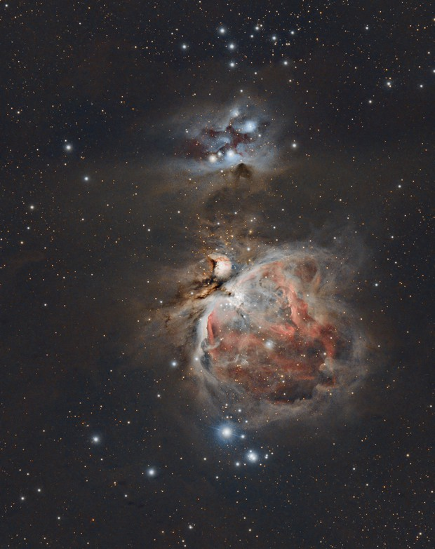 The Great Orion Nebula and The Running Man,                                mackiedlm