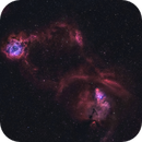 Rosette and Cone Nebula in HaOIII,                                Christopher Scott