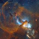 NGC 3576 - Statue of Liberty Nebula close up,                                remidone