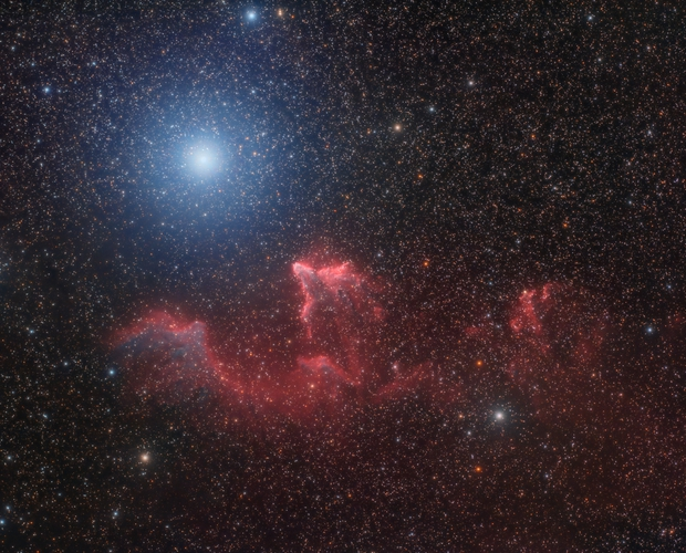 The Ghost of Cassiopeia - IC 63 & 59,                                Luca Marinelli