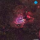 M17 Omega Nebula in HaRGB,                                Francesco di Biase