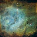 Lagoon Nebula in Hubble palette,                                hughca