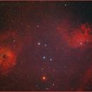 IC 405 Flamming Star Nebula - IC 410 Tadpoles Nebula,                                Paul Schuberth