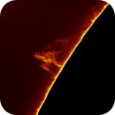 Dragon-shaped solar prominence, 7/27/2018,                                Patrick Hsieh