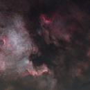 NGC7000, IC5070, IC5067 - North America nebula and Pelican nebula - starless,                                Michal Vokolek