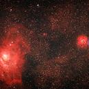 Lagoon and Trifid Nebulae,                                Jose Borrero