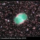M27, Dumbbell Nebula, 30 Jun 2014,                                David Dearden