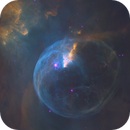 The Bubble Nebula - a NHO Color Mapped Mosaic From The Hubble telescope,                                Dean Jacobsen