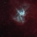 Helmet on the Red Curtain - NGC 2359 - Thor's Helmet,                                Min Xie