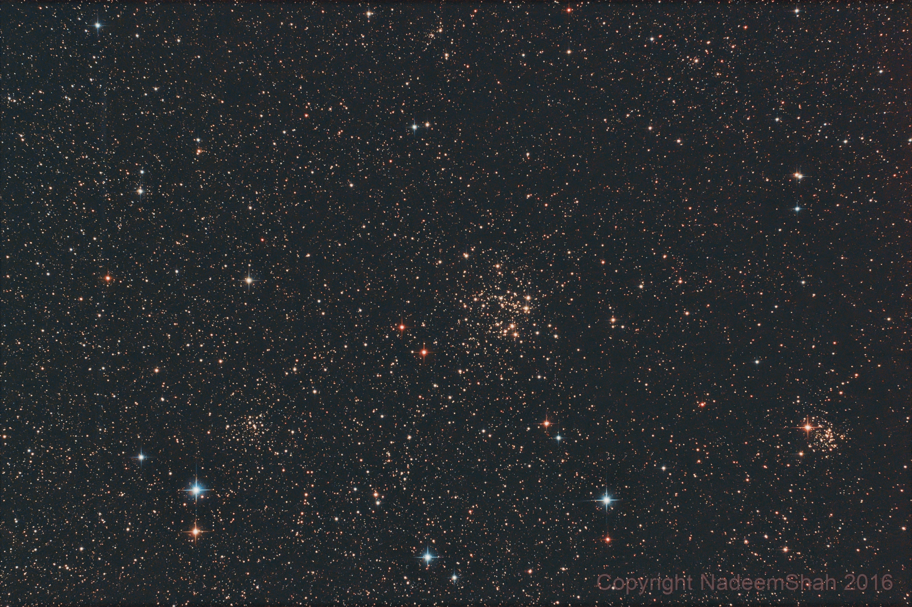 NGC 663, NGC 654 NGC 659 Trio Star Clusters in Cassiopeia,                                Nadeem Shah