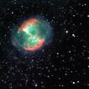 M27 dumbbell nebula in narrowband,                                Tom Gray